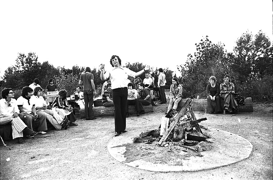 George poses, 1972 gay picnic