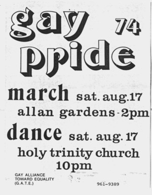 1974 gay pride march poster