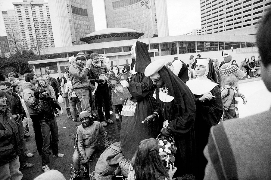 The Sisters of Perpetual Indulgence, gay nuns, skating party at Toronto City Hall