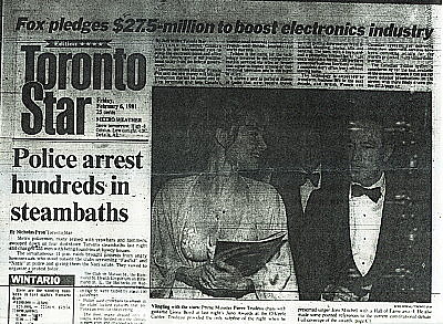 Toronto Star front page, Feb.6, 1981