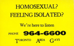 toronto area gays sticker